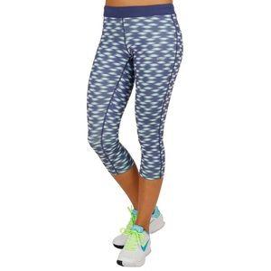 Nike Dri-fit printed relay crop capri leggings m